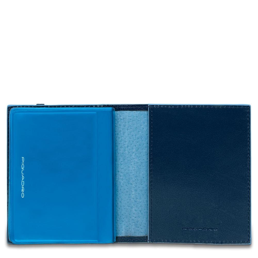 Piquadro Porta carte di credito tascabile Blue Square Blu