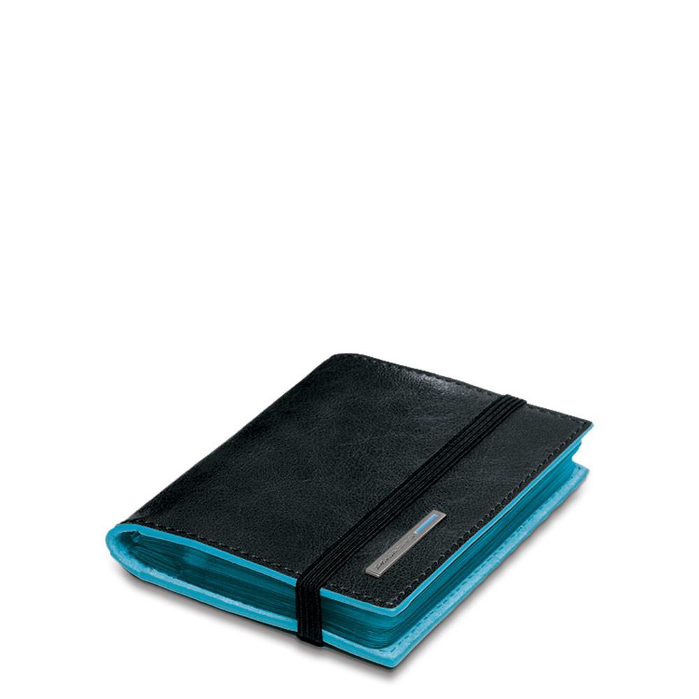 Piquadro Porta carte di credito tascabile Blue Square Nero