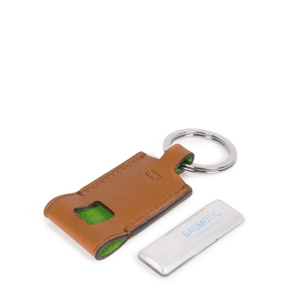 Piquadro Portachiavi BagMotic in pelle con chiavetta USB 16 GB