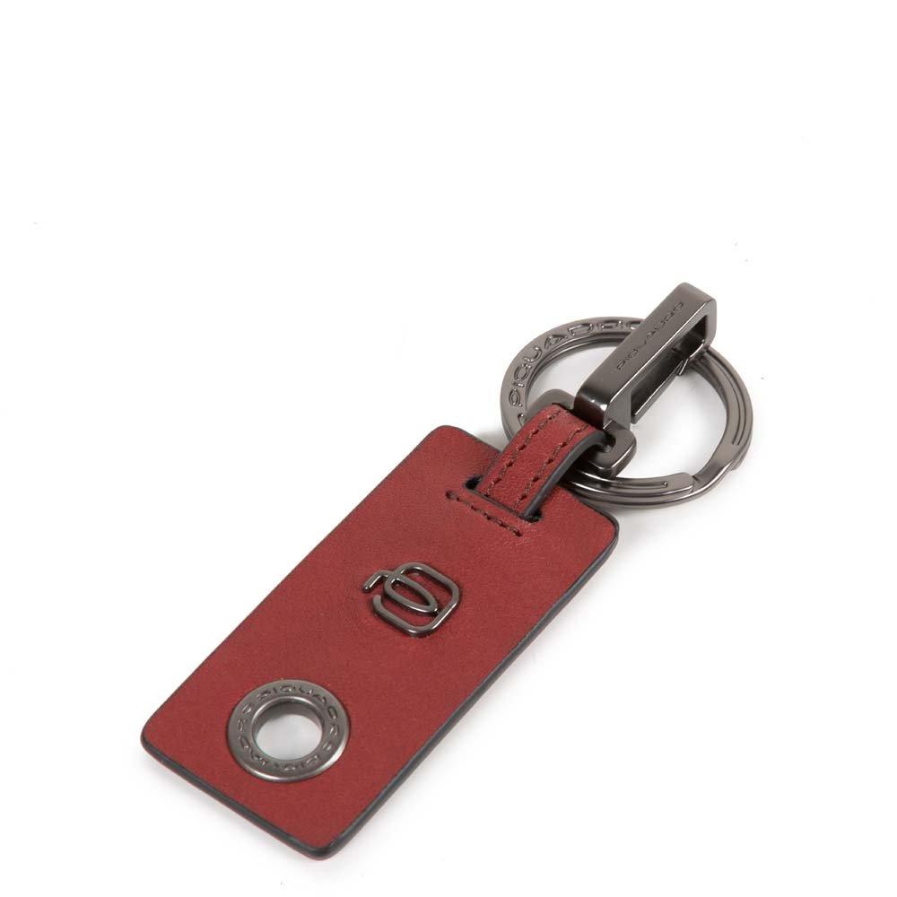 Piquadro Portachiavi Blade con moschettone Rosso