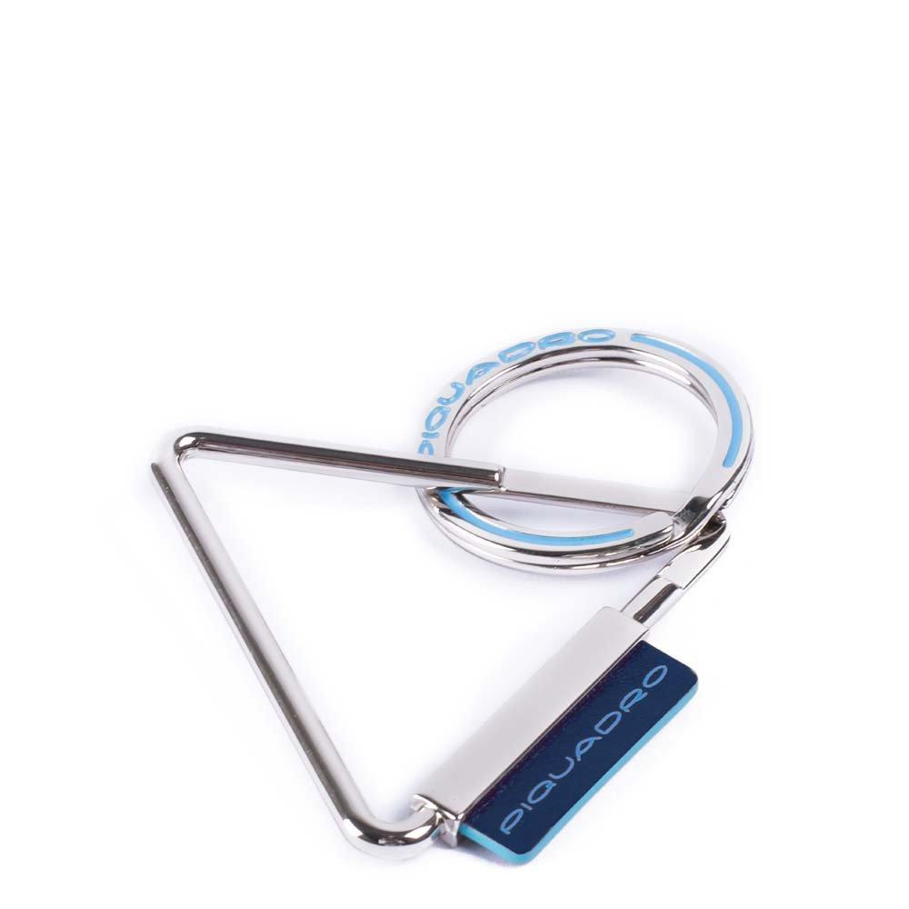 Piquadro Portachiavi Blue Square accessorio in pelle Blu