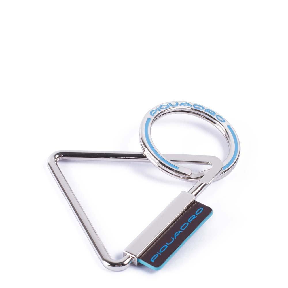 Piquadro Portachiavi Blue Square accessorio in pelle Mogano