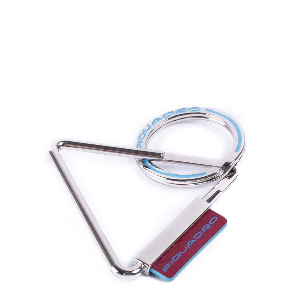 Piquadro Portachiavi Blue Square accessorio in pelle Rosso
