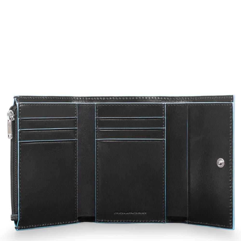 Piquadro Portafoglio Donna Blue Square in pelle Nero