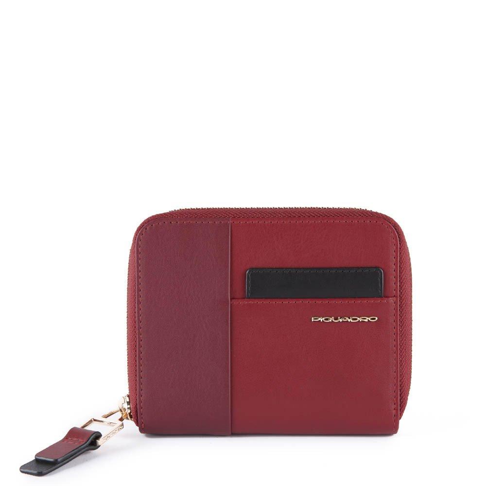 Piquadro Portafoglio donna con porta carte di Echo Bordeaux