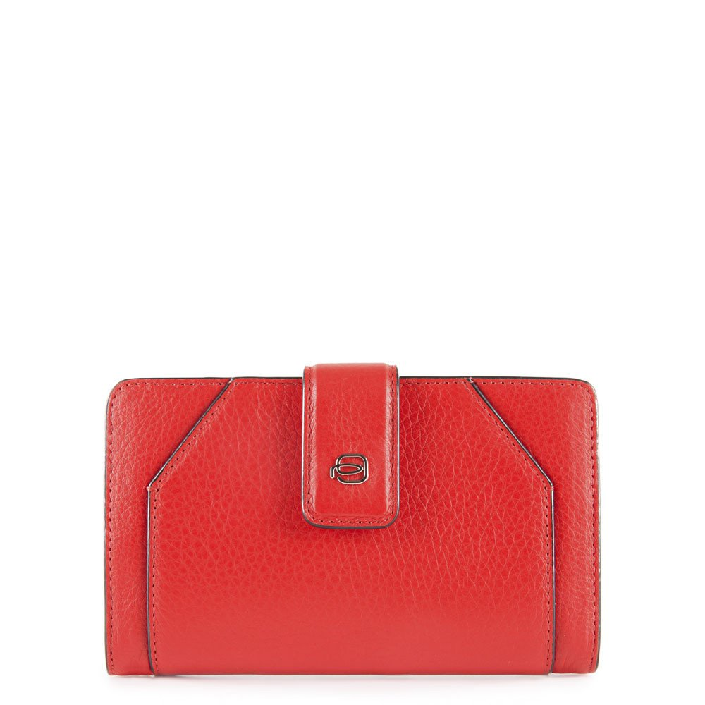 Piquadro Portafoglio Donna Muse con portamonete Rosso
