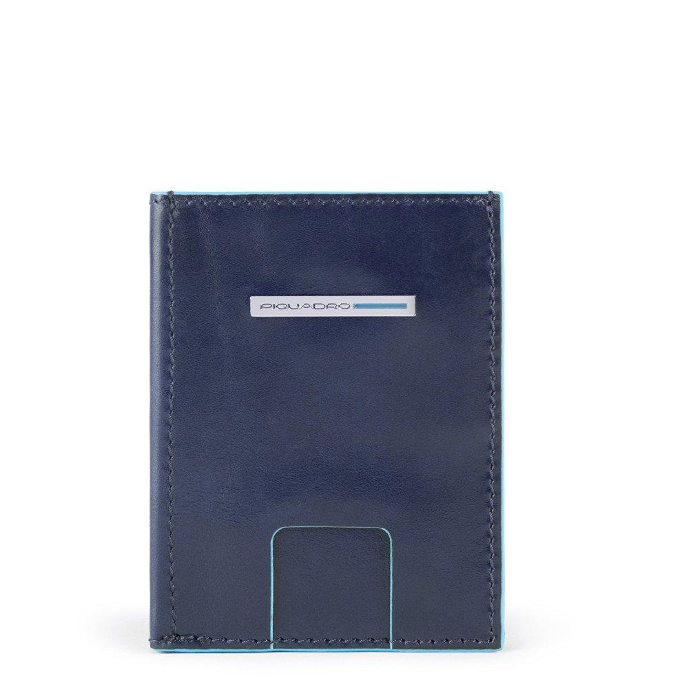 Piquadro Portafoglio pocket con porta carte di credito Blue Square Blu