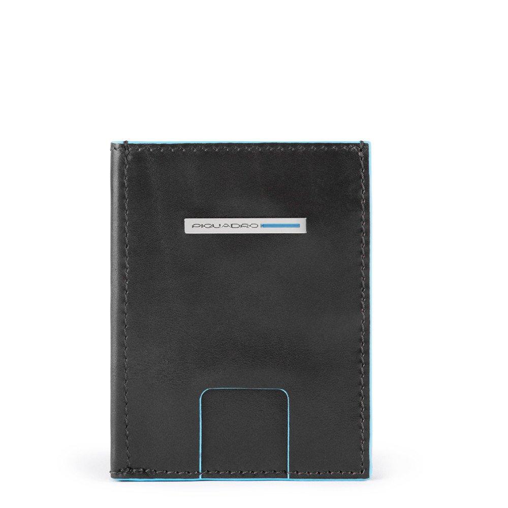 Piquadro Portafoglio pocket con porta carte di credito Blue Square Nero
