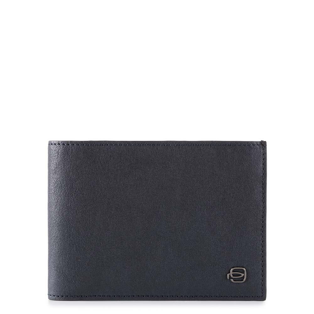 Piquadro Portafoglio uomo Black Square con dodici scomparti porta carte di credito e RFID Blu Notte