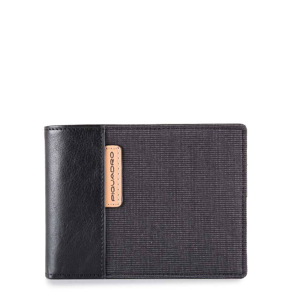 Piquadro Portafoglio uomo Blade con dodici scomparti porta carte di credito Nero