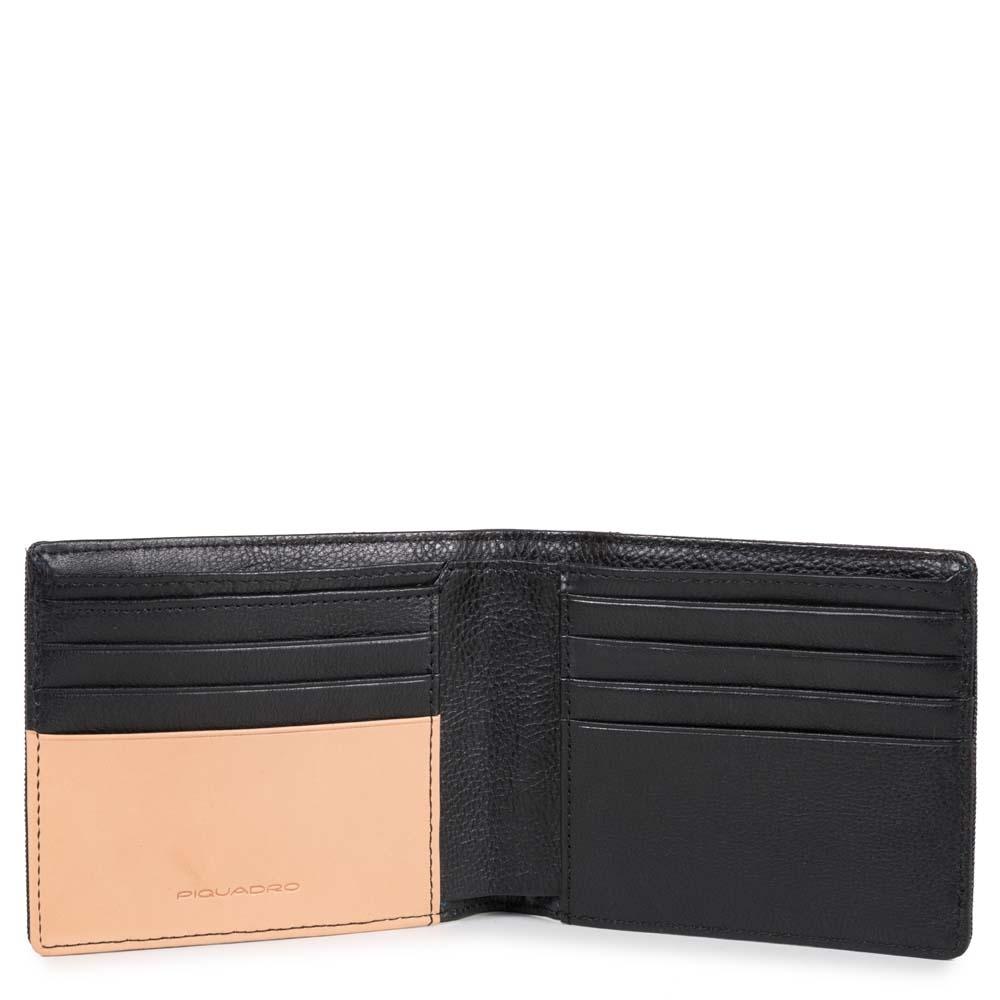 Piquadro Portafoglio uomo Blade con otto scomparti porta carte di credito Nero