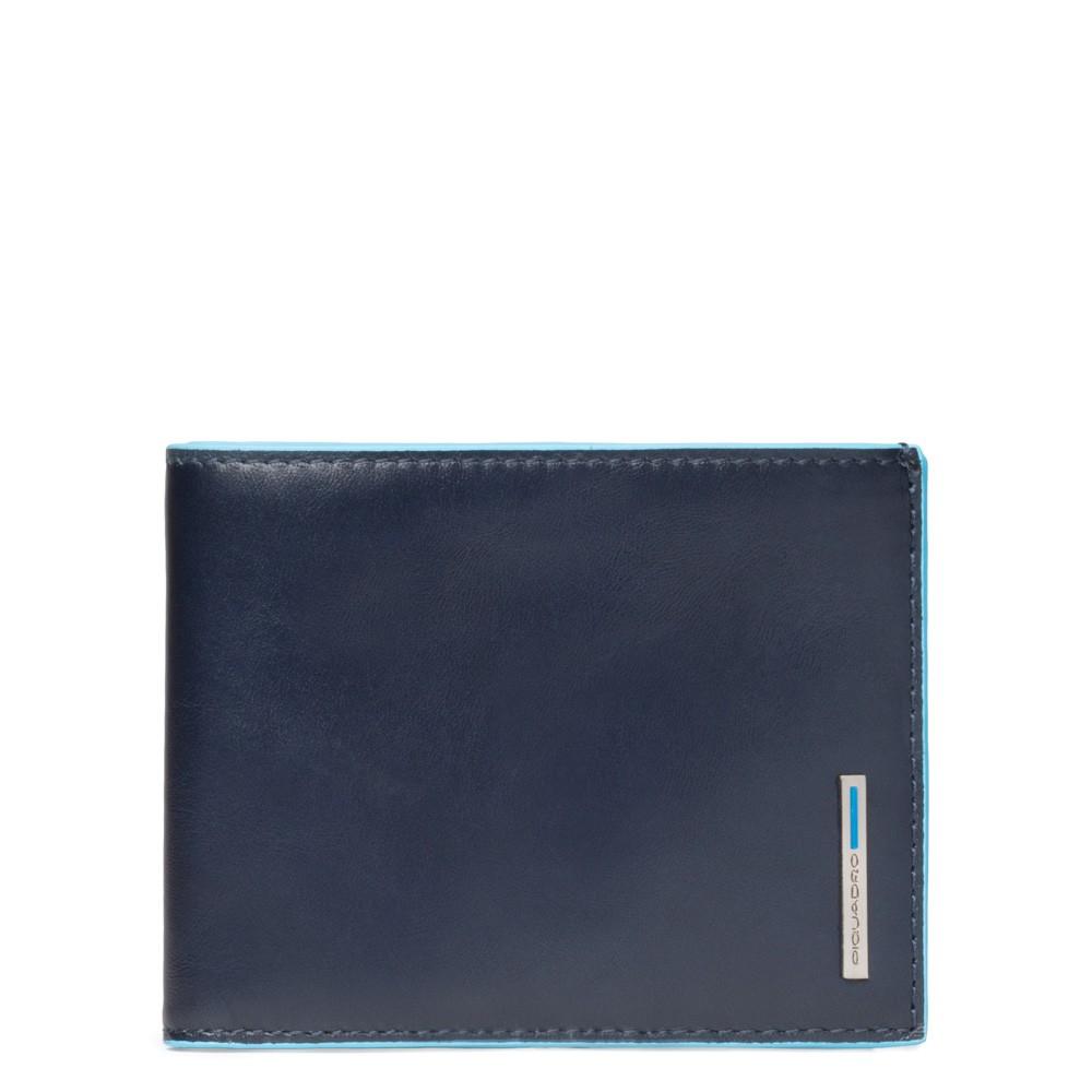 Piquadro Portafoglio uomo Blu Square con 12 porta carte di credito Blu Notte