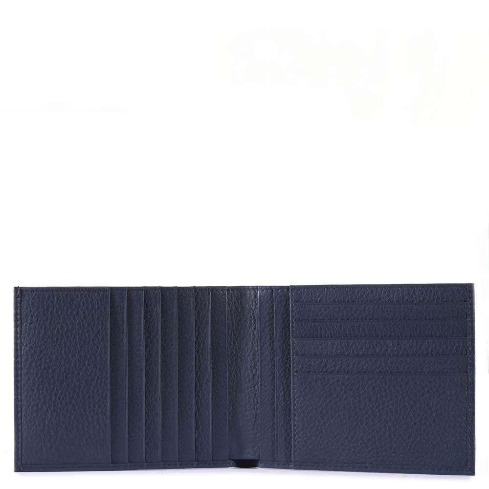 Piquadro Portafoglio uomo Blu Square con 12 porta carte di credito Blu