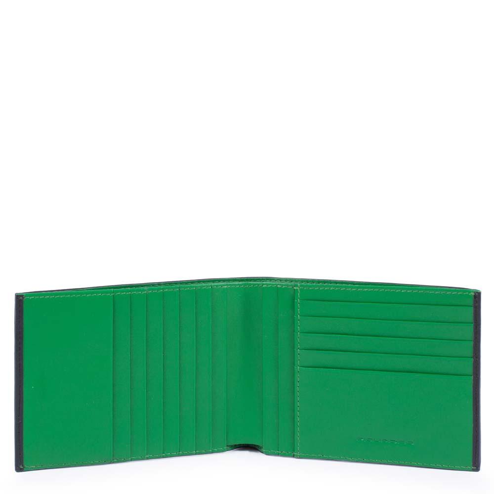 Piquadro Portafoglio uomo con dodici carte di credito