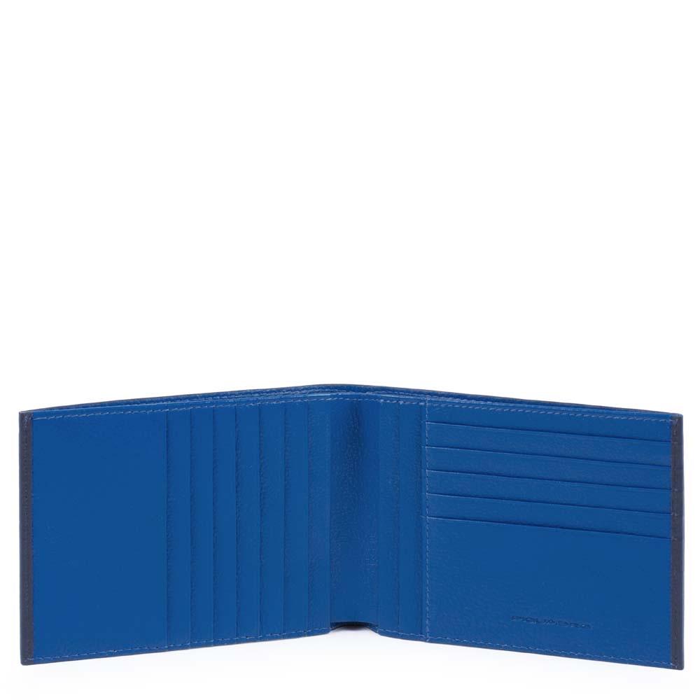 Piquadro Portafoglio uomo Splash con dodici porta carte di credito Blu