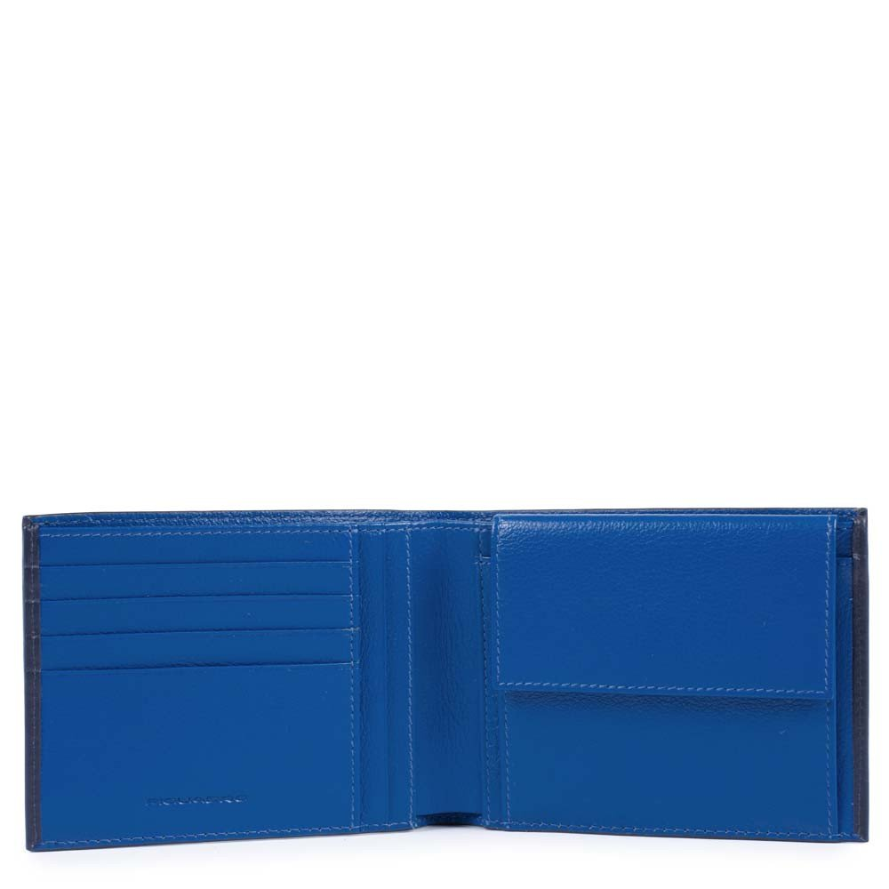 Piquadro Portafoglio uomo Splash con portamonete Blu