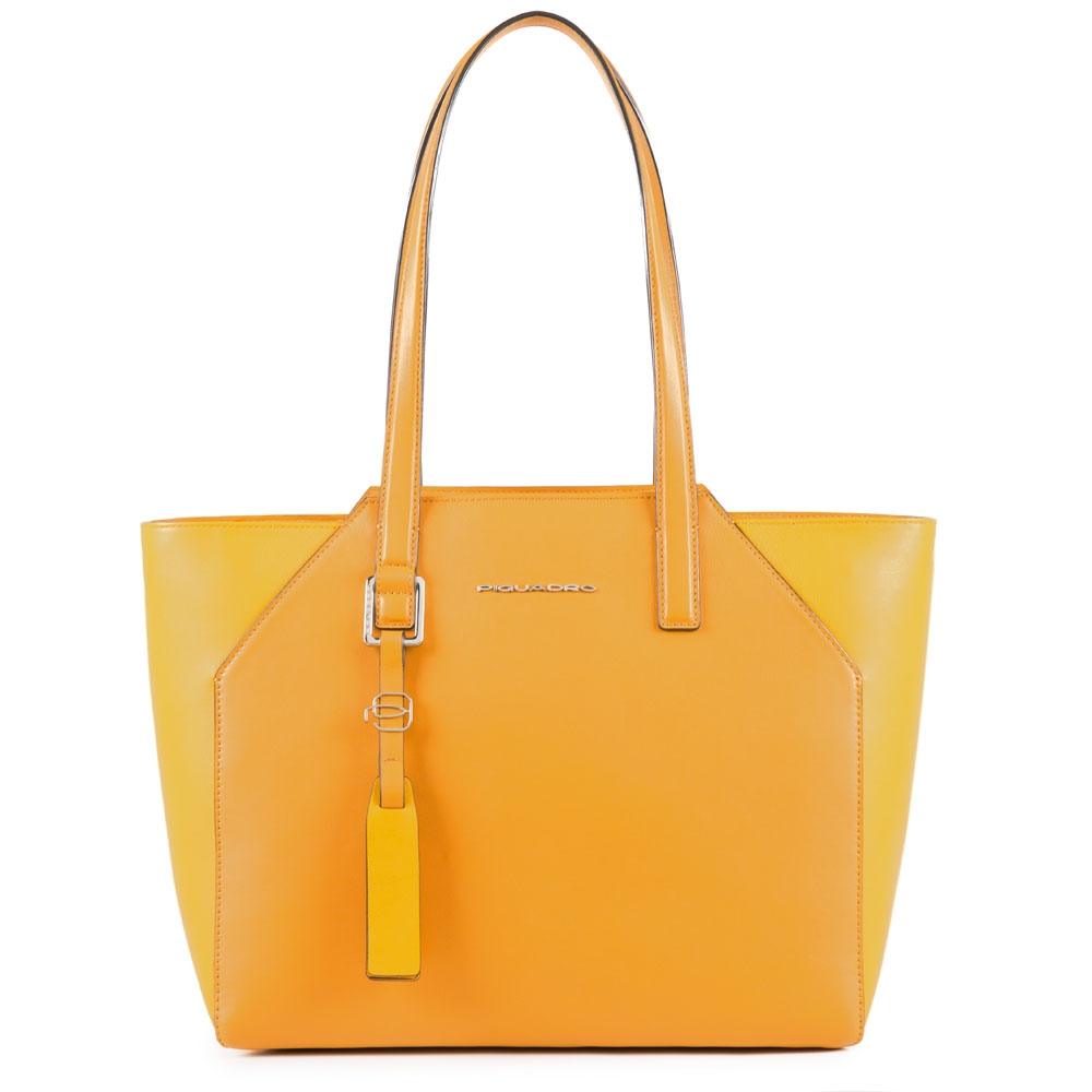 Piquadro Shopper Muse media in pelle Giallo zafferano