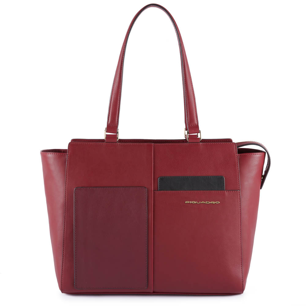 Piquadro Shopping bag con tasca per CONNEQU Echo Bordeaux