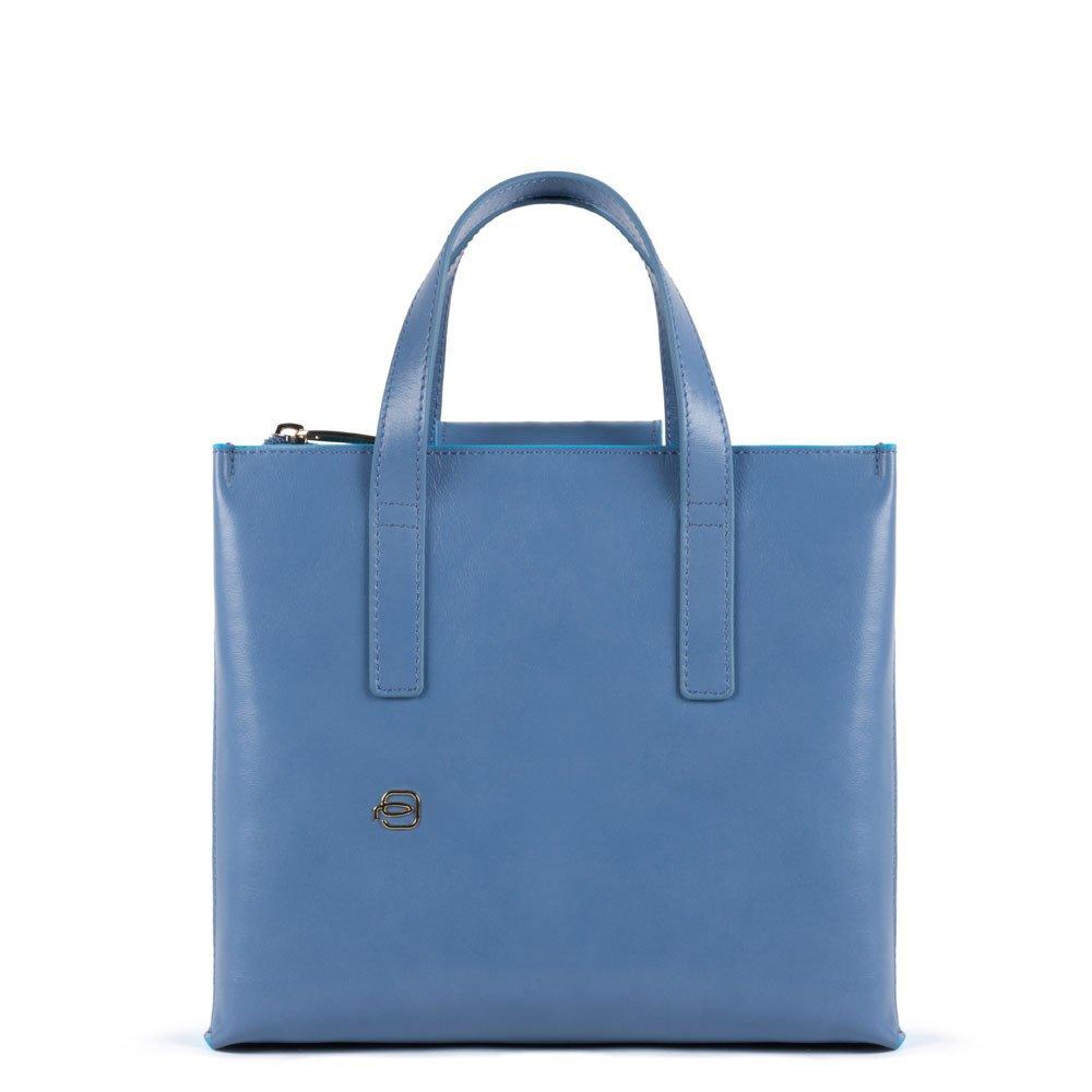 Piquadro Shopping bag con tracolla staccabile Blue Square Blu' Polvere