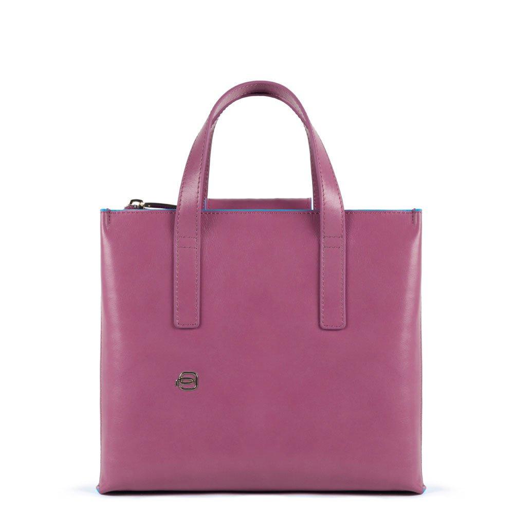 Piquadro Shopping bag con tracolla staccabile Blue Square Viola Pervinca