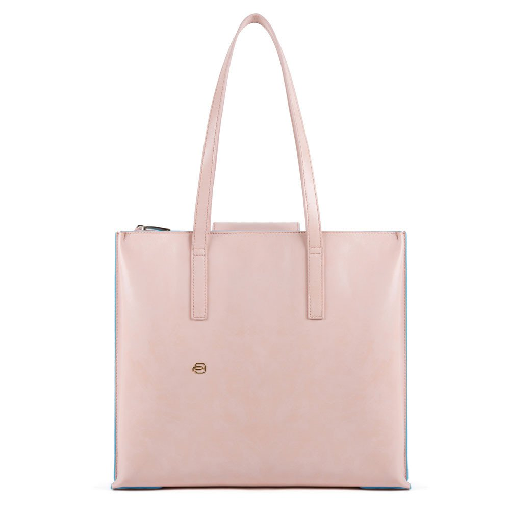Piquadro Shopping bag porta iPad® grande Blue Square Rosa