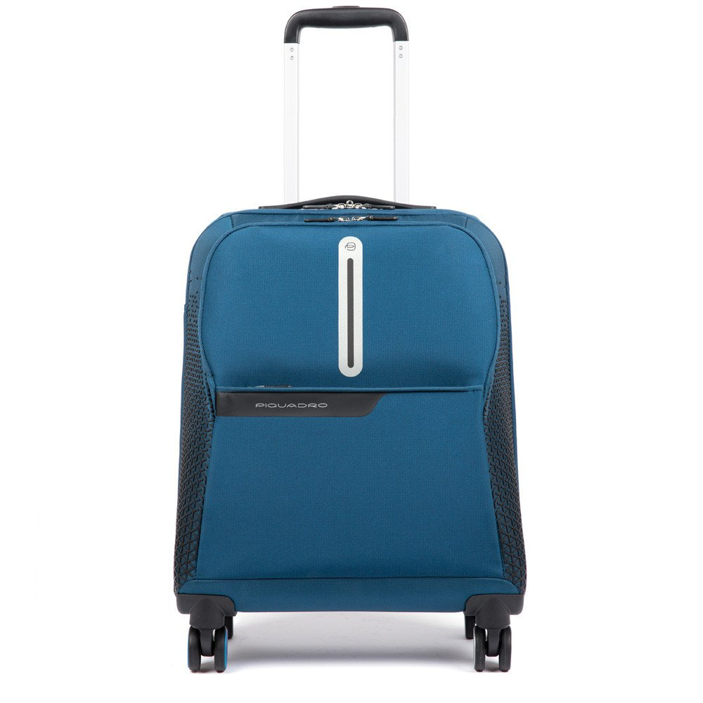 Piquadro Trolley Rispett Coleos cabina ultra slim a 4 ruote Blu