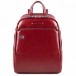 Piquadro Zainetto Blu Square Rosso porta iPad 9,7