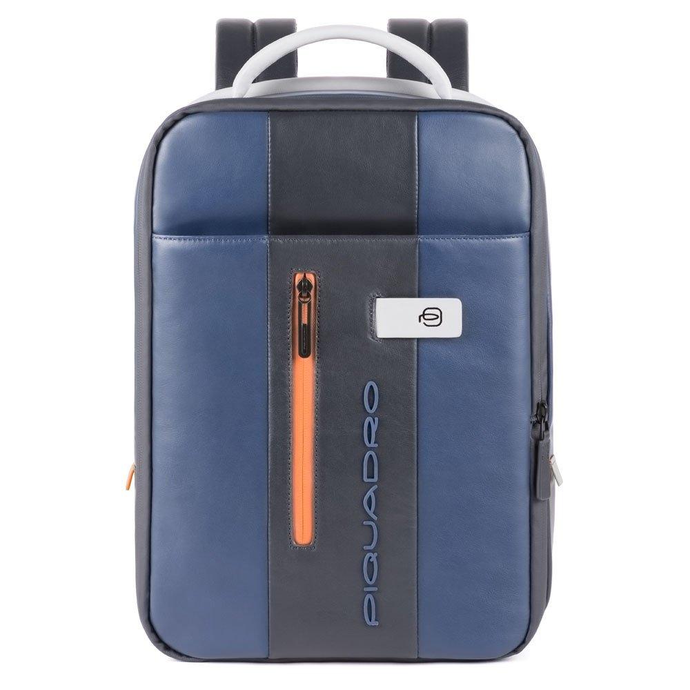 Piquadro Zainetto sottile porta computer e porta iPad® Urban in pelle Blu-Grigio
