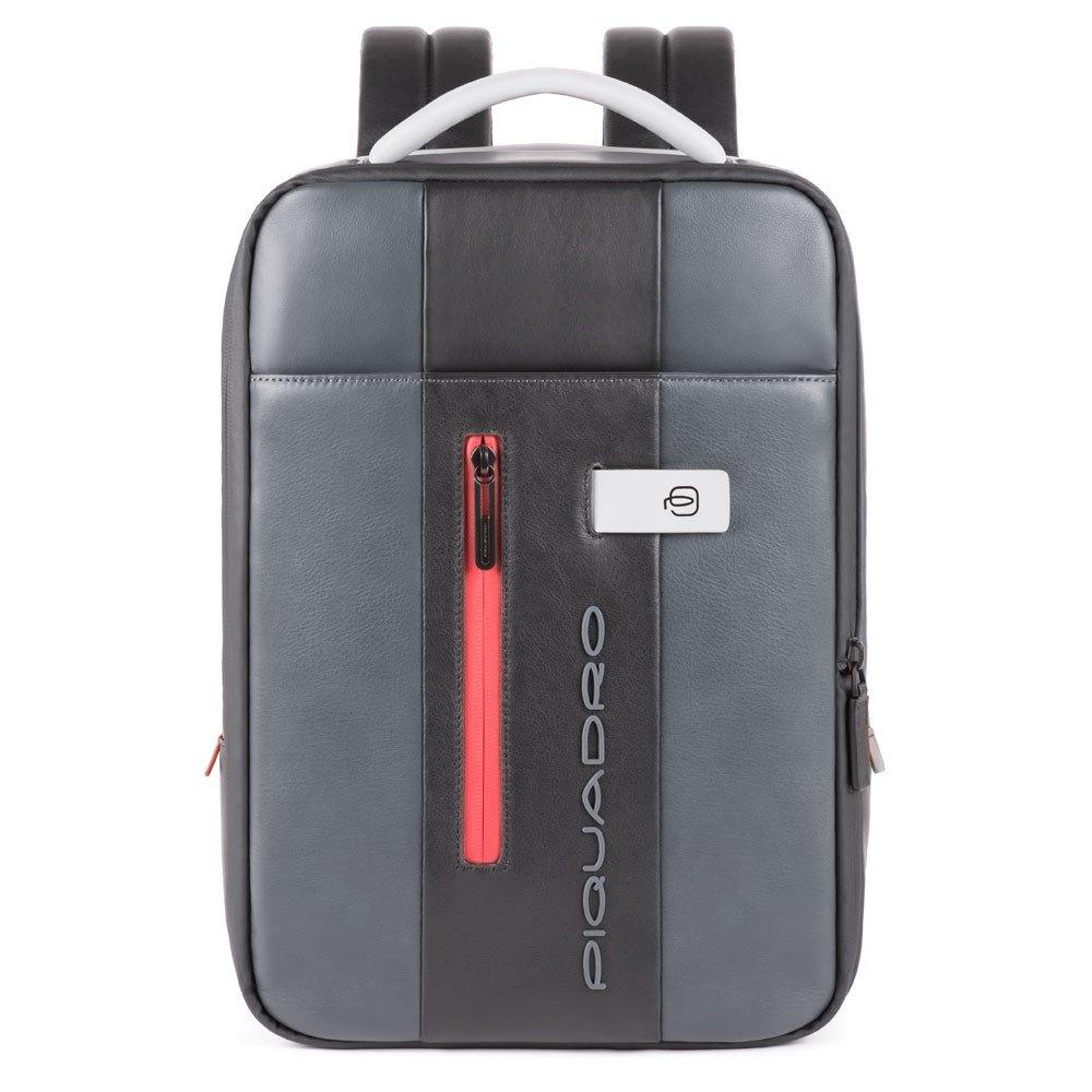 Piquadro Zainetto sottile porta computer e porta iPad® Urban in pelle Grigio-Nero