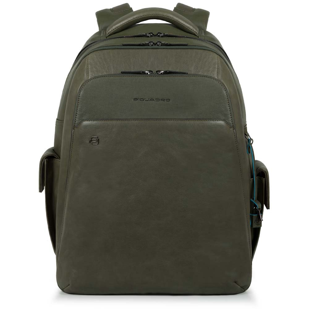 Piquadro Zaino BagMotic porta PC e porta iPad® con USB e CONNEQU Verde