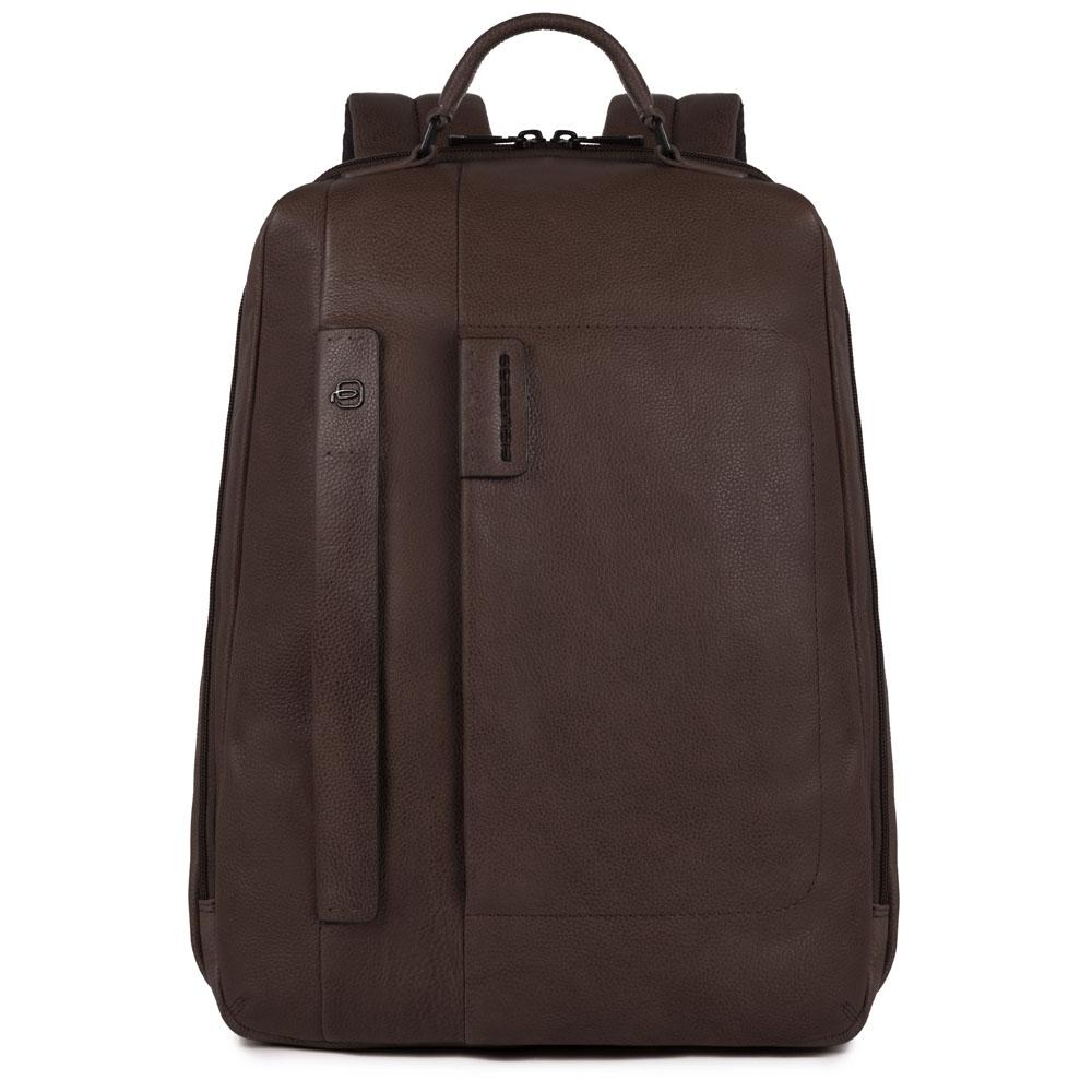 Piquadro Zaino grande porta PC-iPad®, portabottiglia e portaombrello, CONNEQU P15Plus Testa di Moro