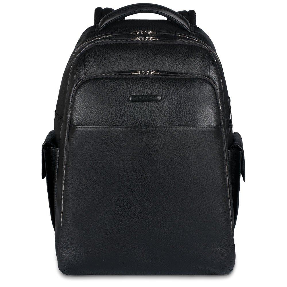 Piquadro Zaino Modus porta PC-iPad® con tasche portabottiglia e portaombrello Nero