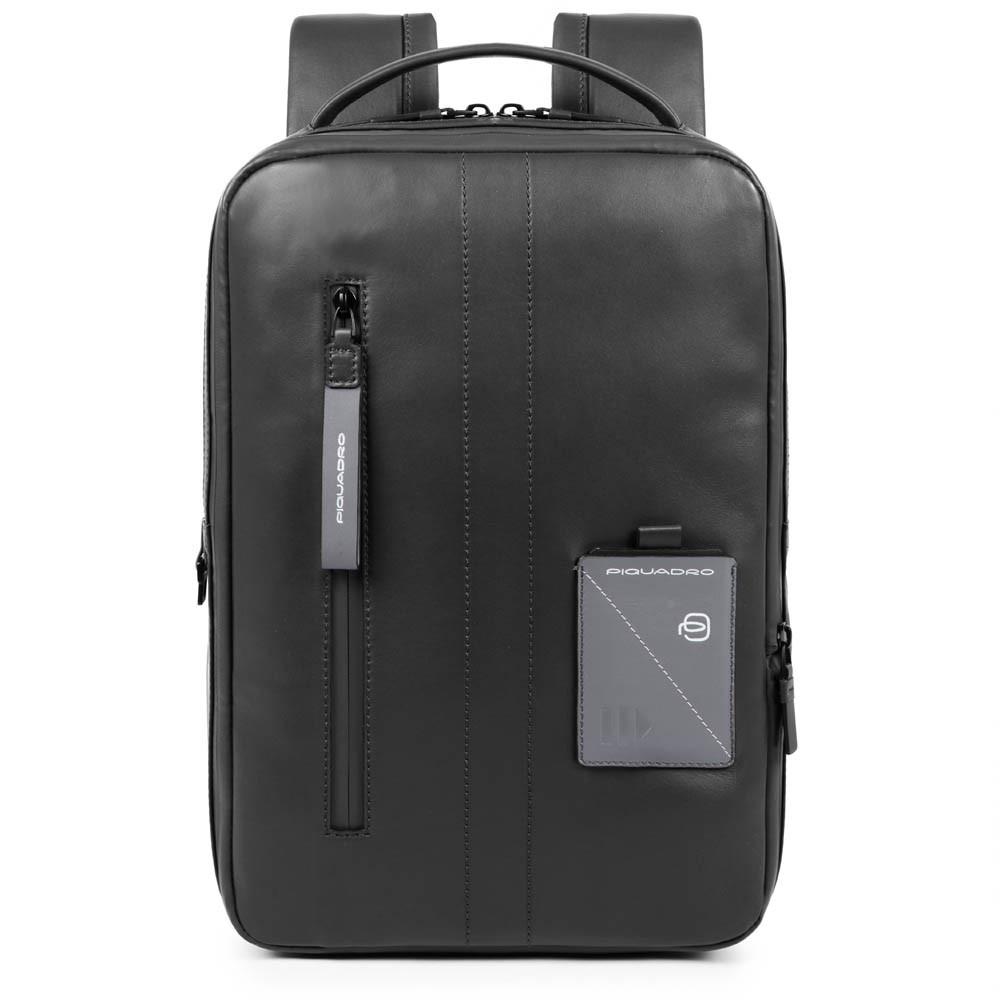 Piquadro Zaino sottile espandibile porta PC e porta iPad®P Explorer Nero