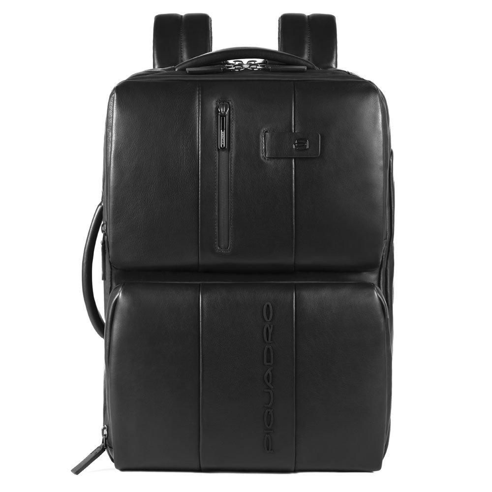 Piquadro Zaino sottile fast-check per PC e iPad® con cavo a Urban in pelle Nero
