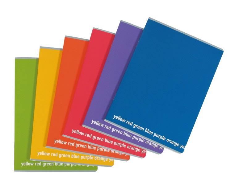 Quaderno A4 rigatura 4MM senza margine Happy Color 80g