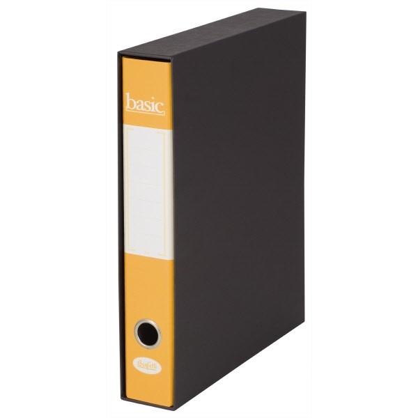 Raccoglitore  Basic - F-to Protocollo - Dorso 5 cm Giallo