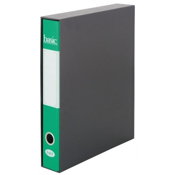 Raccoglitore  Basic - Scatola 9 pz - Dorso 5 cm Verde