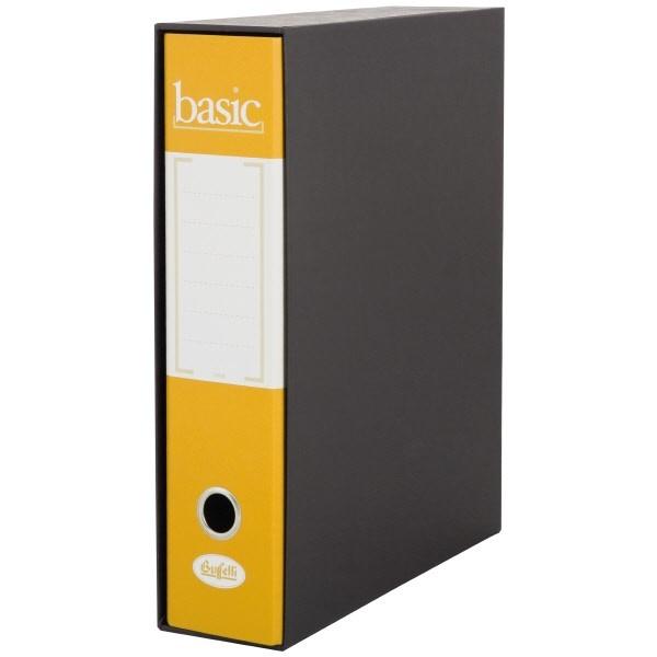Raccoglitore  Basic - F.to Protocollo - Dorso 8 cm Giallo