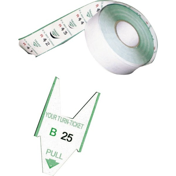 Rotoli tagliandi verde per eliminacode