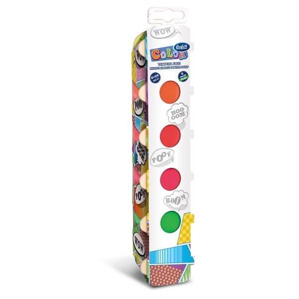 Serie di 6 colori di tempere metallizzate in vasetti da 25 ml.