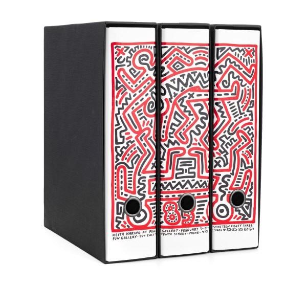 Set tre registratori Image - Formato Protocollo - Dorso 8 cm - Keith Haring - Manifesto