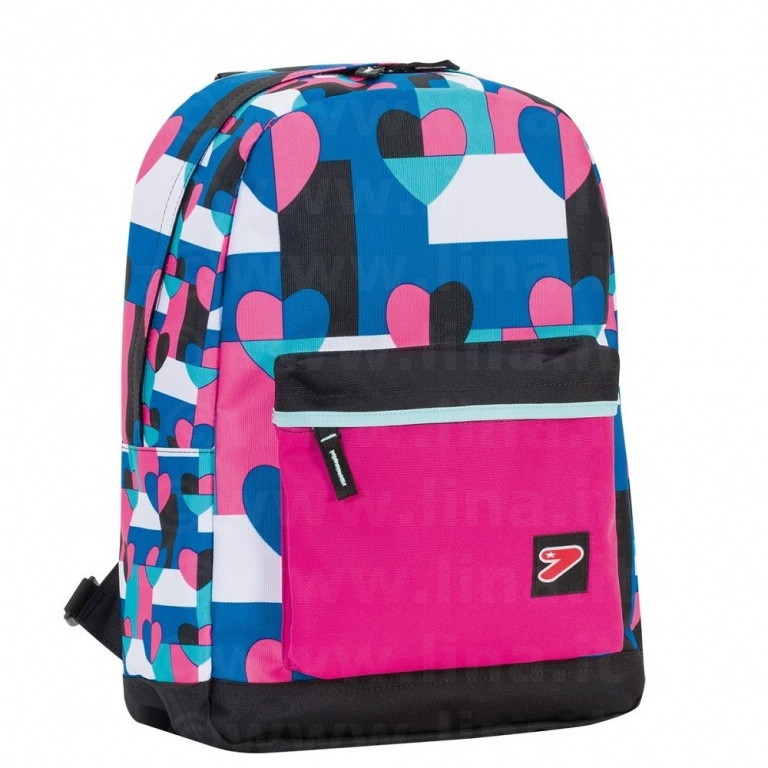 SEVEN COVER BACKPACK Double Pro Cuori FUCSIA