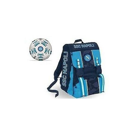 Seven Zaino del Napoli con pallone Blu e Celeste