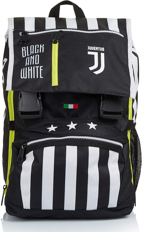 Seven Zaino Estensibile Big Juventus Best Match Bianco e Nero con Orologio abbinato