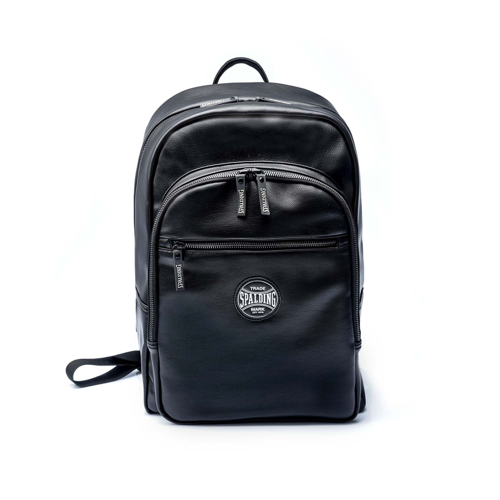 Spalding & Bros Zaino PRO BACKPACK PLAY OFF in eco pelle Nero