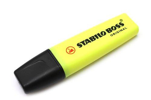 Stabilo Boss Original Evidenziatori punta a scalpello 2 – 5 mm Linea Giallo Yellow