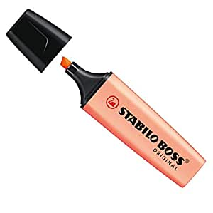 Stabilo Boss Original Evidenziatori punta a scalpello 2 – 5 mm Linea Rosa Pesca