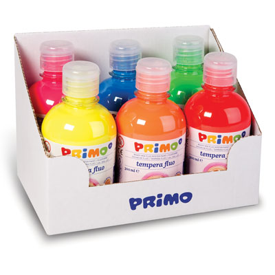 TEMPERA PRONTA PRIMO FLUO ML.300 PZ.6 COLORI ASSORTITI