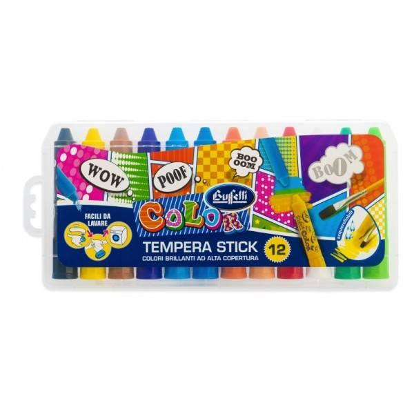 Tempera solida stick conf. 12 pezzi Buffetti