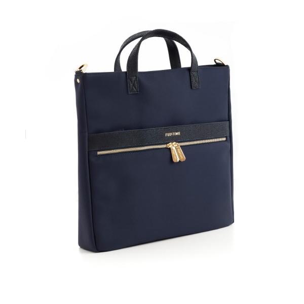 Tote bag verticale FullTime® - porta PC (fino a 14'') - Capri - Blu